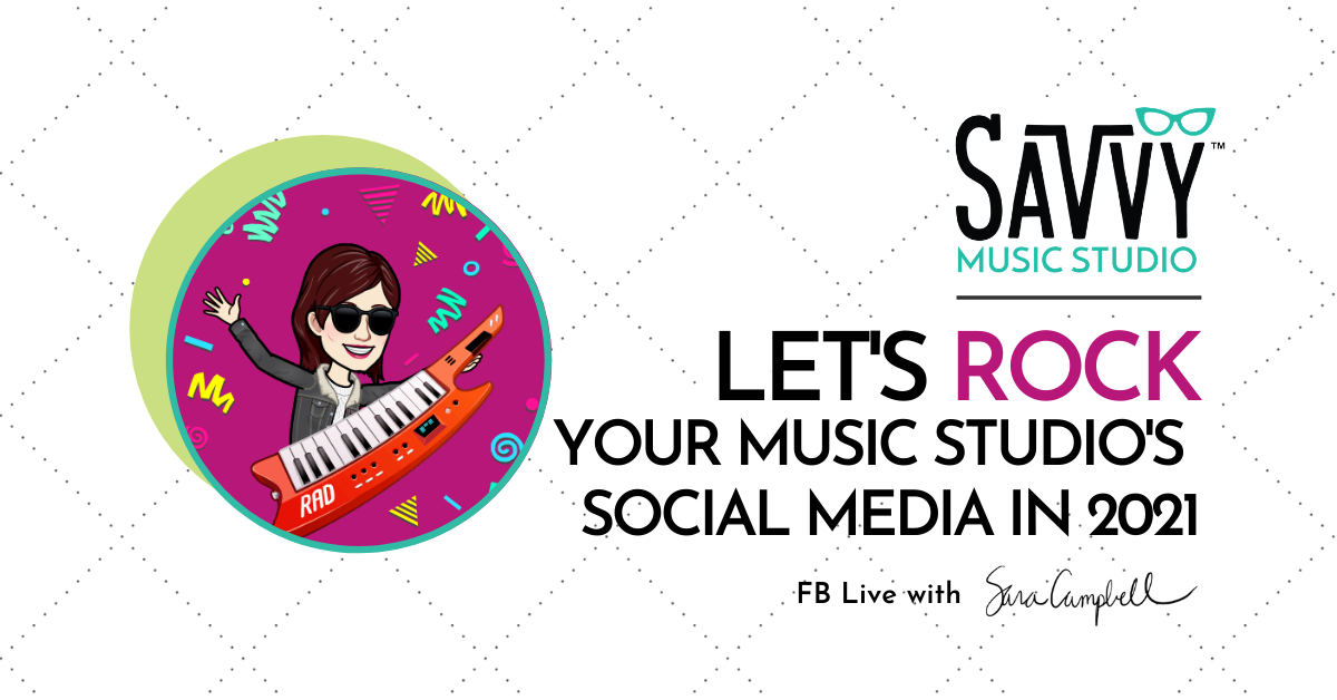 rock your music studio's social media
